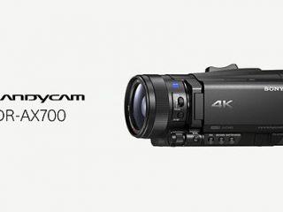 4K HDR録画が可能な新型ハンディカム『FDR-AX700』が海外発表