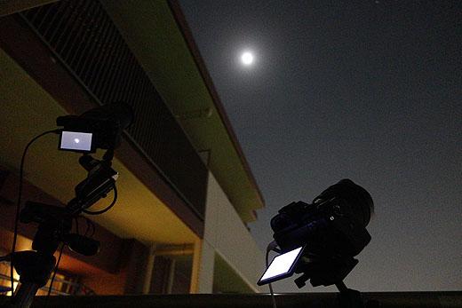 アクションカムで撮る皆既月食