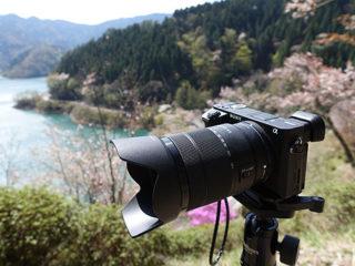 """""""α6500""""高倍率ズームレンズで撮る『奥多摩湖の桜』"""