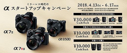 『SEL2470Z』とカメラボディで3万円のキャッシュバック!αスタートアップキャンペーンのご案内