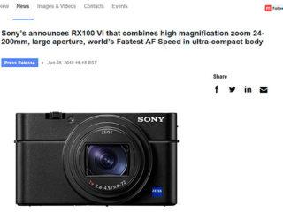 ソニーUKにてサイバーショット『DSC-RX100M6』発表