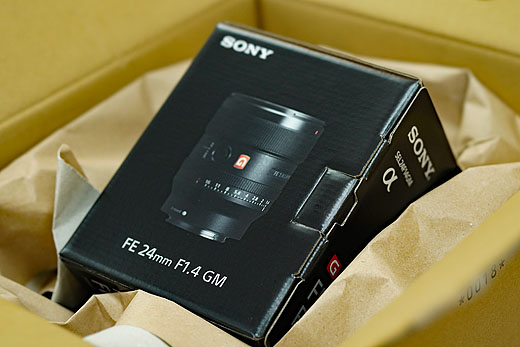 【レビュー】単焦点24mm F1.4『SEL24F14GM』開梱レポート