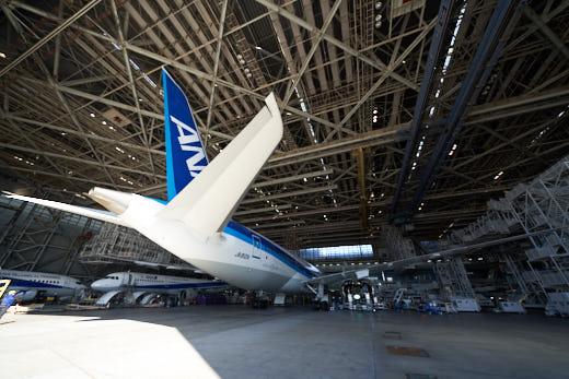 超ワイドズームレンズ『SEL1224G』で撮るANA機体工場見学