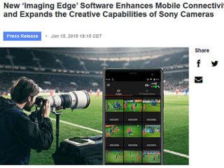ソニーヨーロッパ発表 モバイル向け『Imaging Edge』アプリ登場
