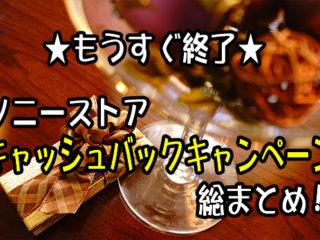 【締め切り間近】ソニーストアお得なキャッシュバックキャンペーン総まとめ!