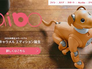 """エンタテインメントロボット""""aibo""""に2020年限定カラーモデル「キャラメル エディション」誕生"""