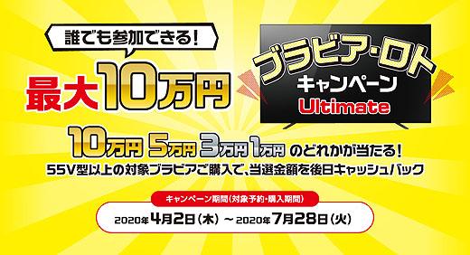 【ラストチャンス!】誰でも挑戦可能!最大10万円が当たるSONY『ブラビア・ロト』は7月28日まで!