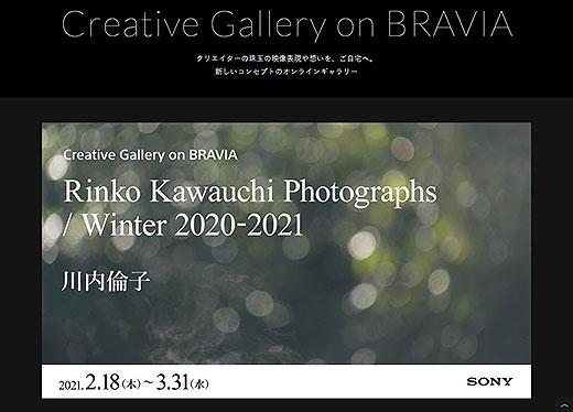 Android TV機能搭載のブラビアでプロ写真家・映像クリエイターの作品を楽しめる「Creative Gallery on BRAVIA」開設のお知らせ
